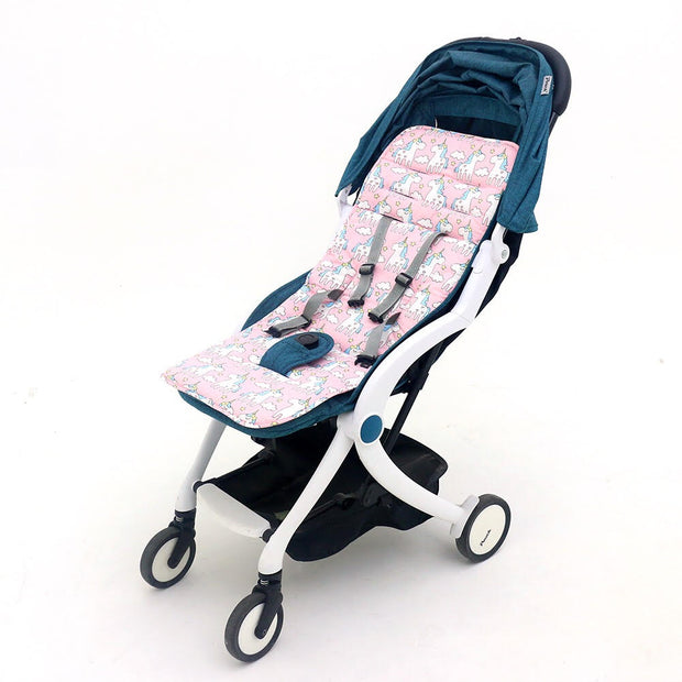 White Unicorn Pram Liner