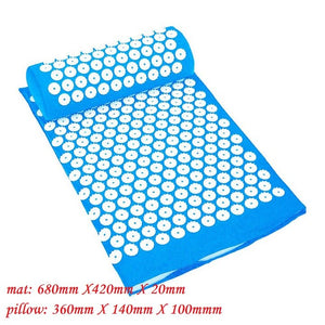 Body Pain Acupuncture Spike Yoga Mat with Massage Pillow/Mat Massage Relaxation Cushion Relieve Acupressure Mat CXR - quasituttogratis