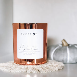 Fall Copper Candle