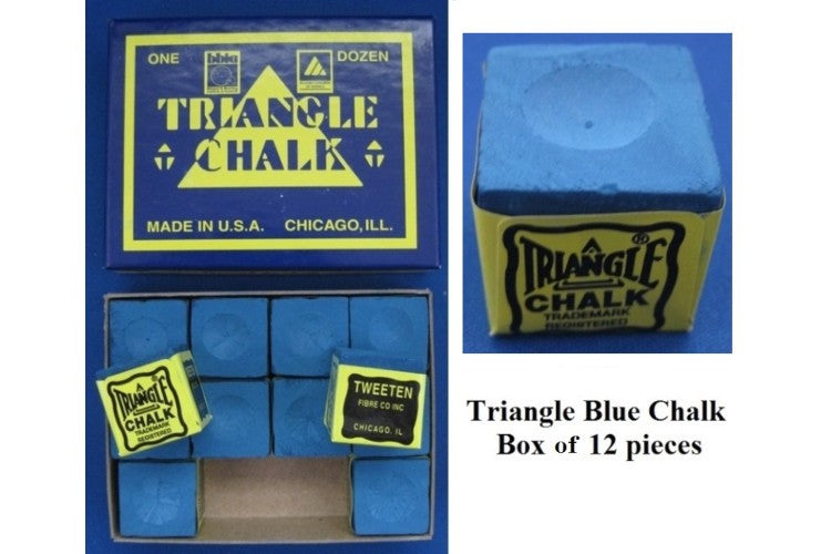 CHALK TRIANGLE GREEN 12 PIECES