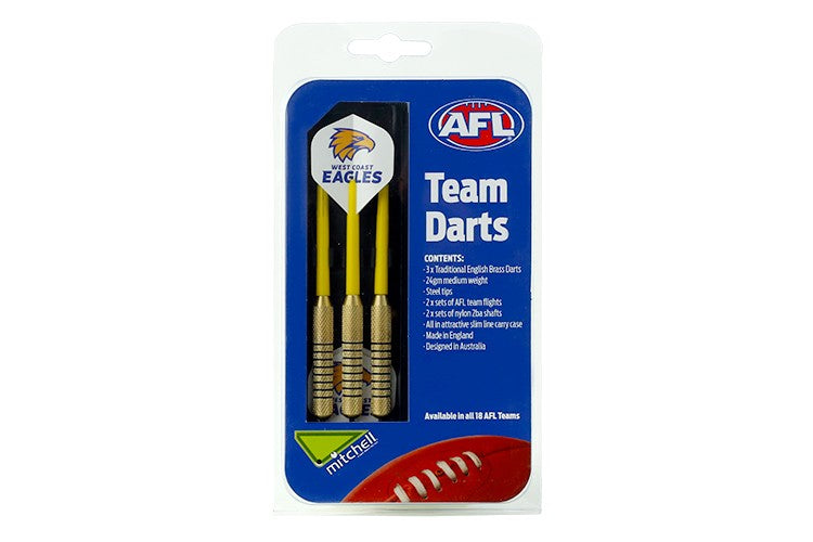 AFL BRASS DARTS WEST COAST EAGLES
