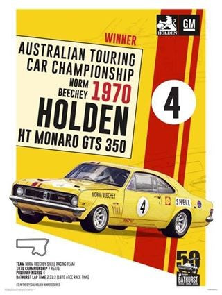 BATHURST WINNERS 1970 NORM BEACHY