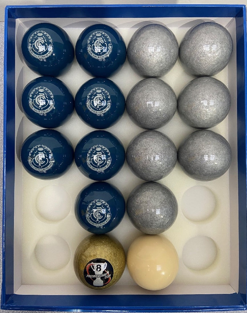 CARLTON AFL EIGHT BALL SET - 16 BALLS