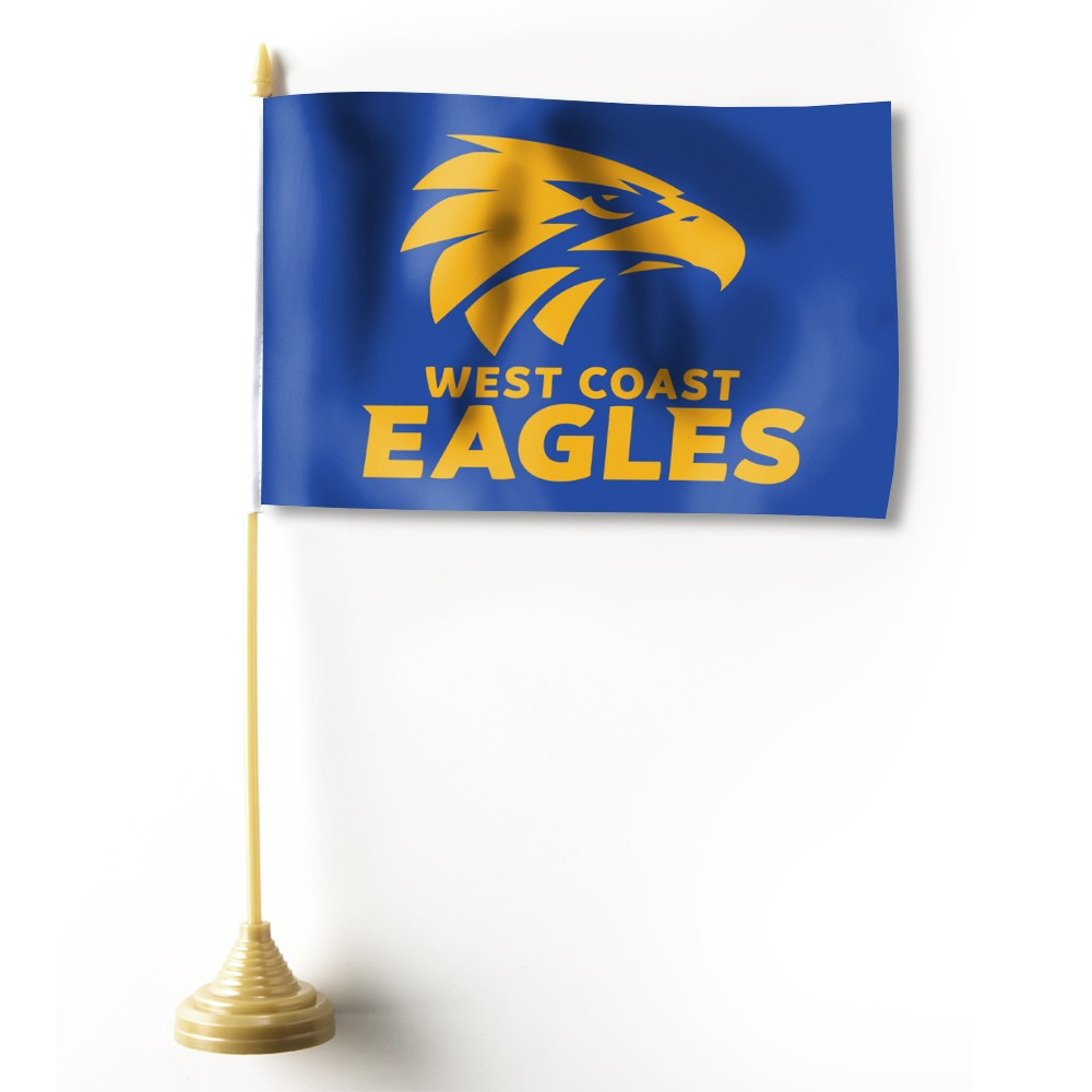 WEST COAST EAGLES DESK FLAG