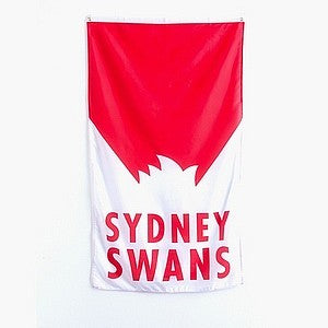 SYDNEY SWANS SUPPORTER FLAG