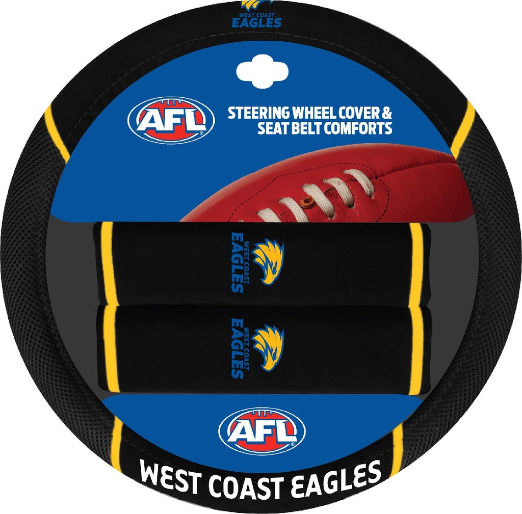 WEST COAST OFFICIAL AFL STEERING WHEEL COVER