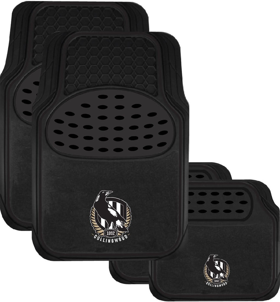 COLLINGWOOD OFFICIAL AFL CAR MATS