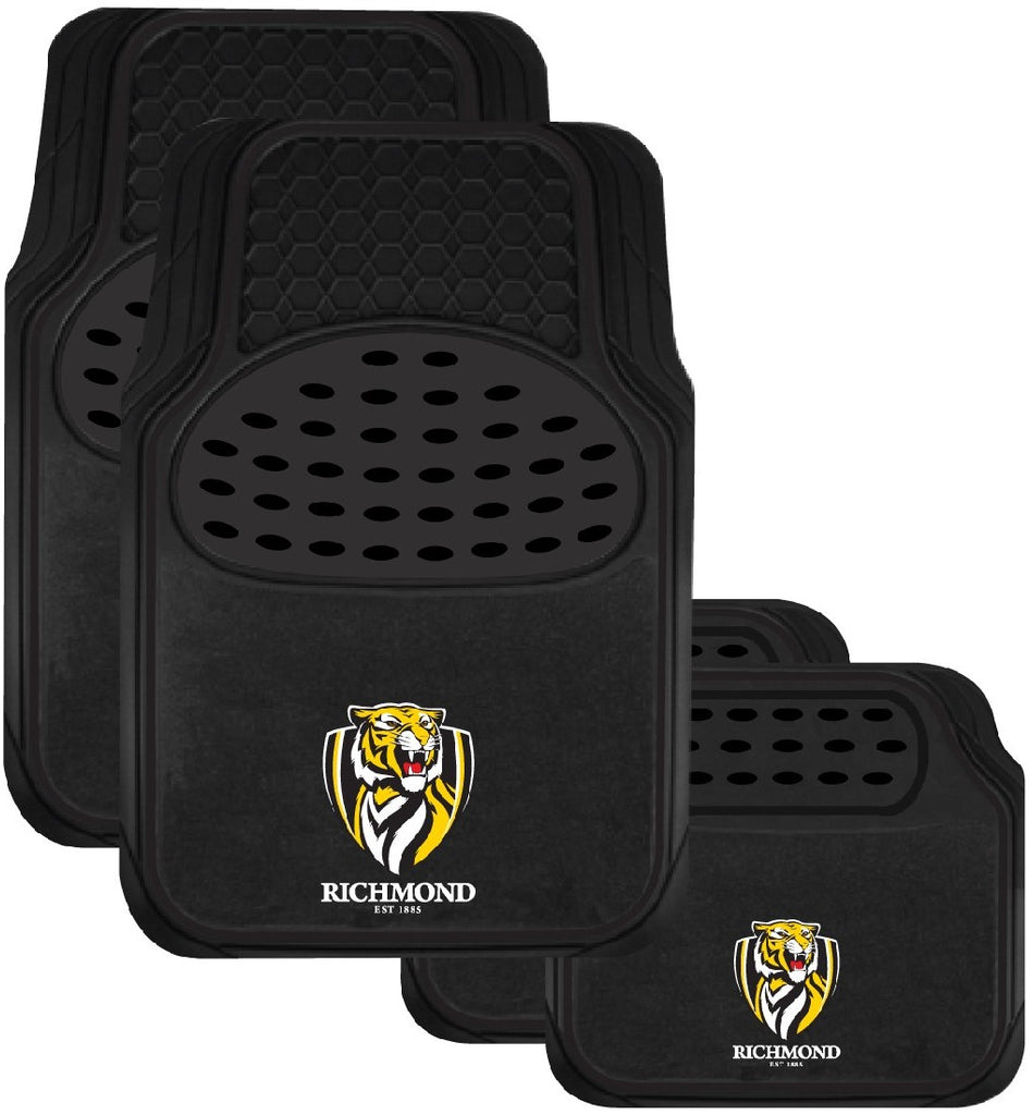 RICHMOND OFFICIAL AFL CAR MAT SET