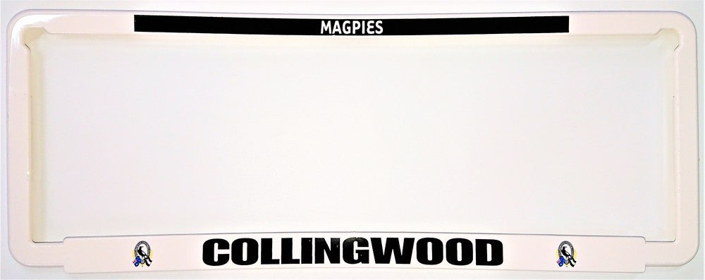 COLLINGWOOD NUMBER PLATE SURROUND