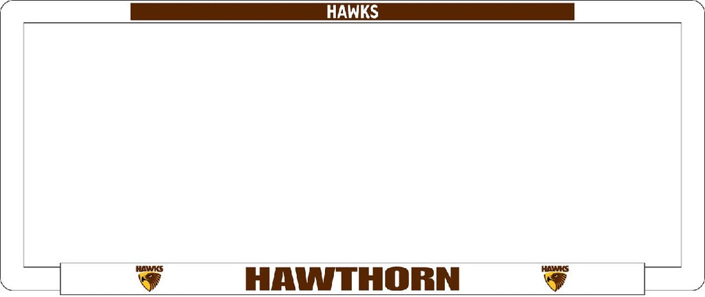 HAWTHORN NUMBER PLATE SURROUND
