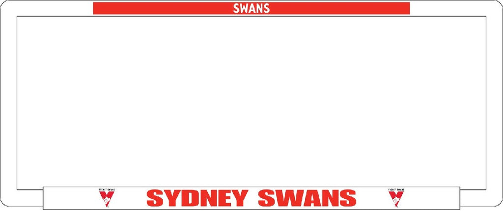 SYDNEY SWANS NUMBER PLATE SURROUNDS