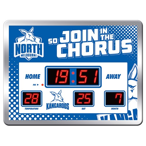 NORTH MELBOURNE SCOREBOARD CLOCK
