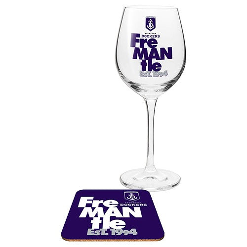 FREMANTLE WINE GLASS WITH COASTER