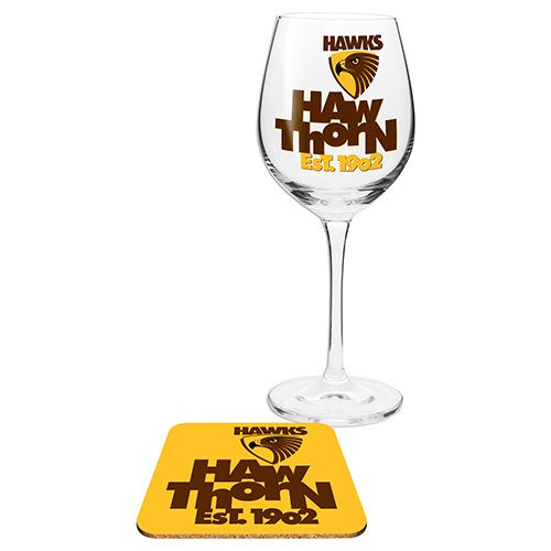 HAWTHORN WINE GLASS WITH COASTER