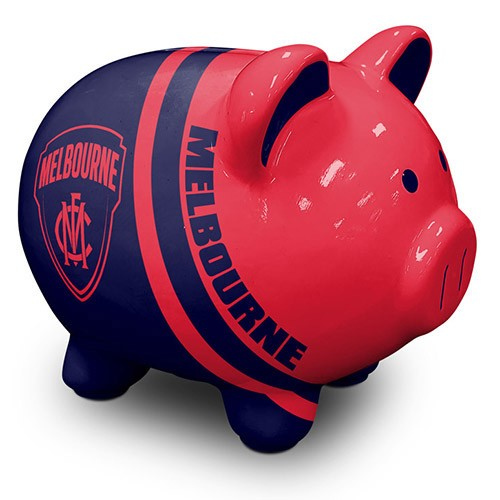 MELBOURNE DEMONS PIGGY MONEY BOX