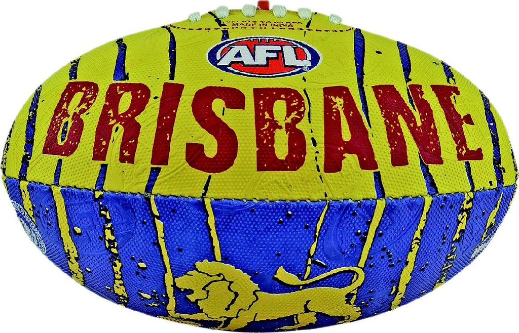 BRISBANE LIONS FOOTBALL SYNTHETIC SIZE 2