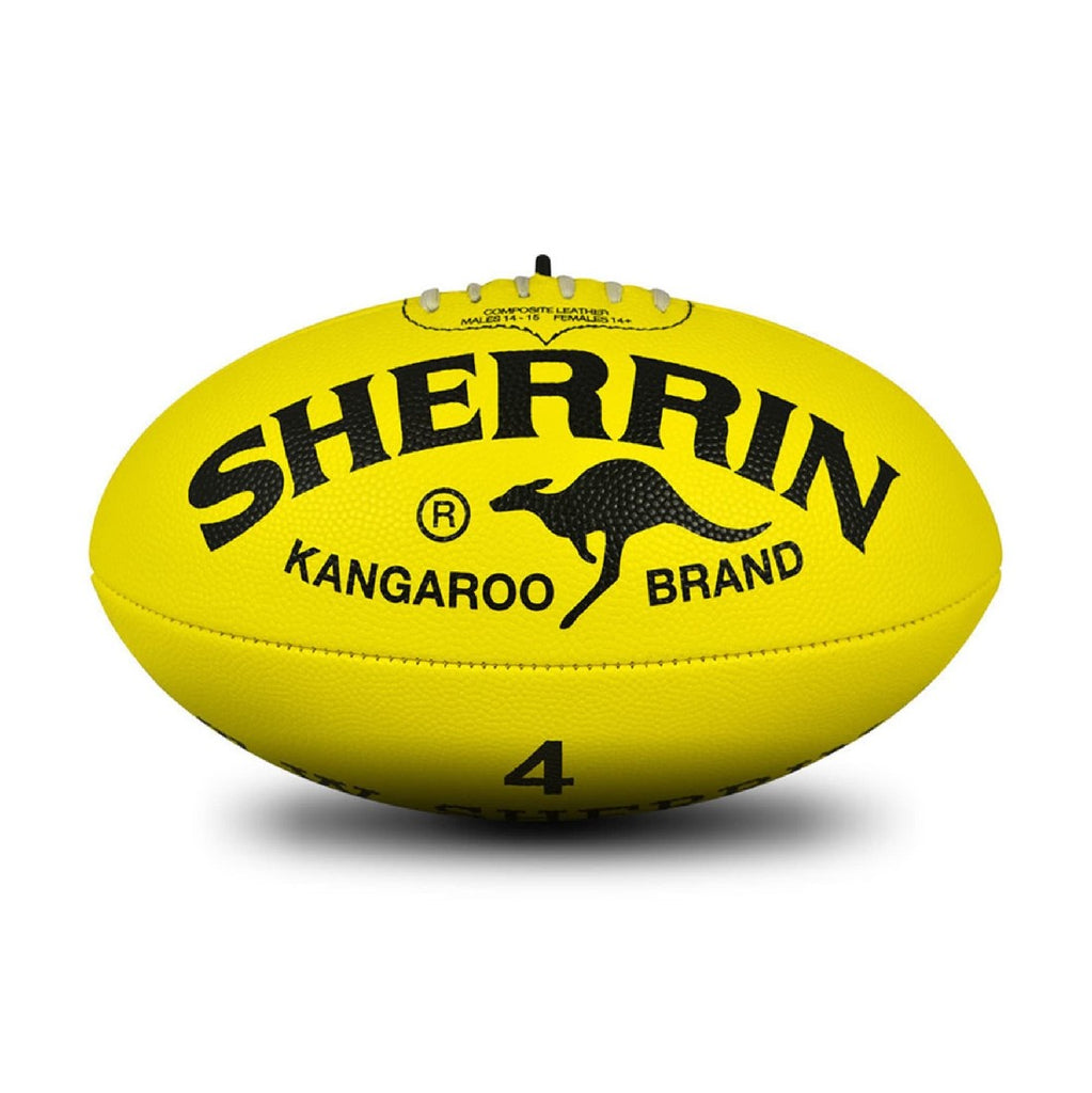 FOOTBALL SHERRIN SYNTHETIC YELLOW SIZE 4