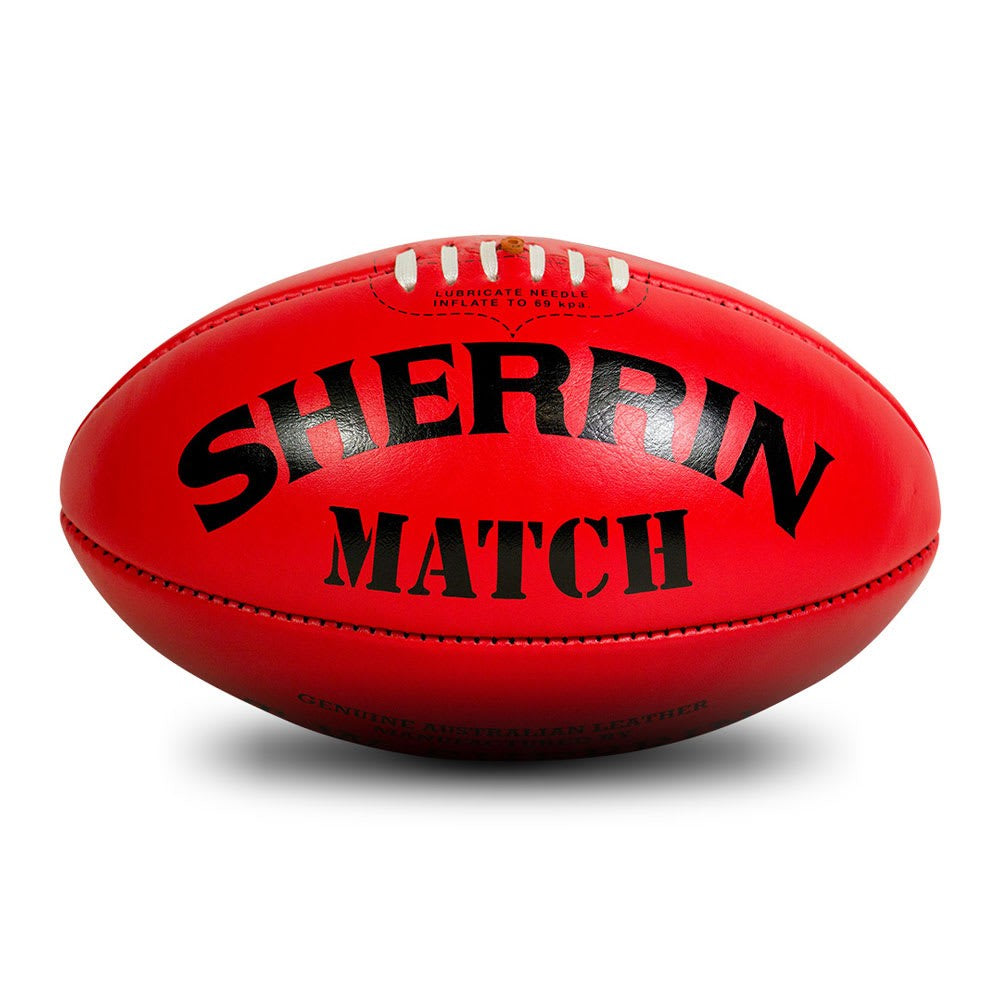 FOOTBALL SHERRIN MATCH RED SIZE 5