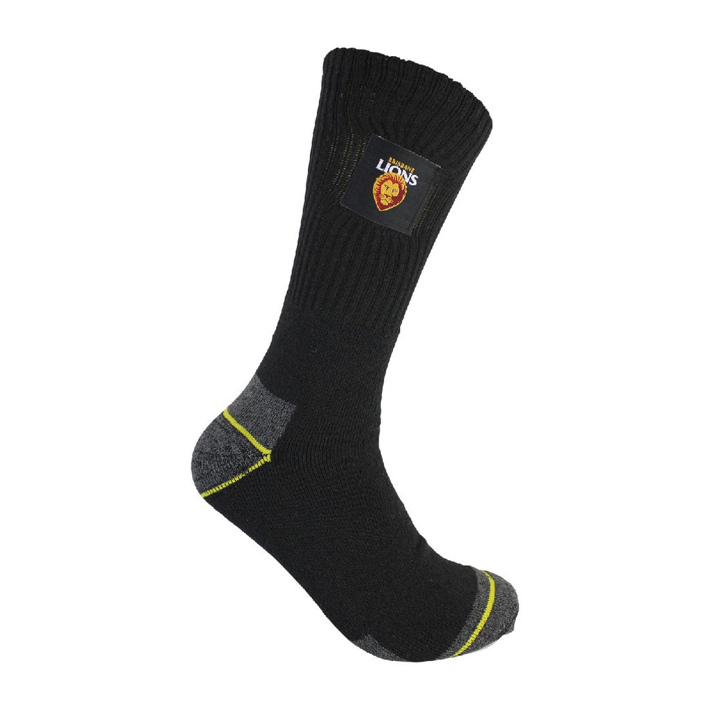BRISBANE LIONS MENS WORK SOCKS