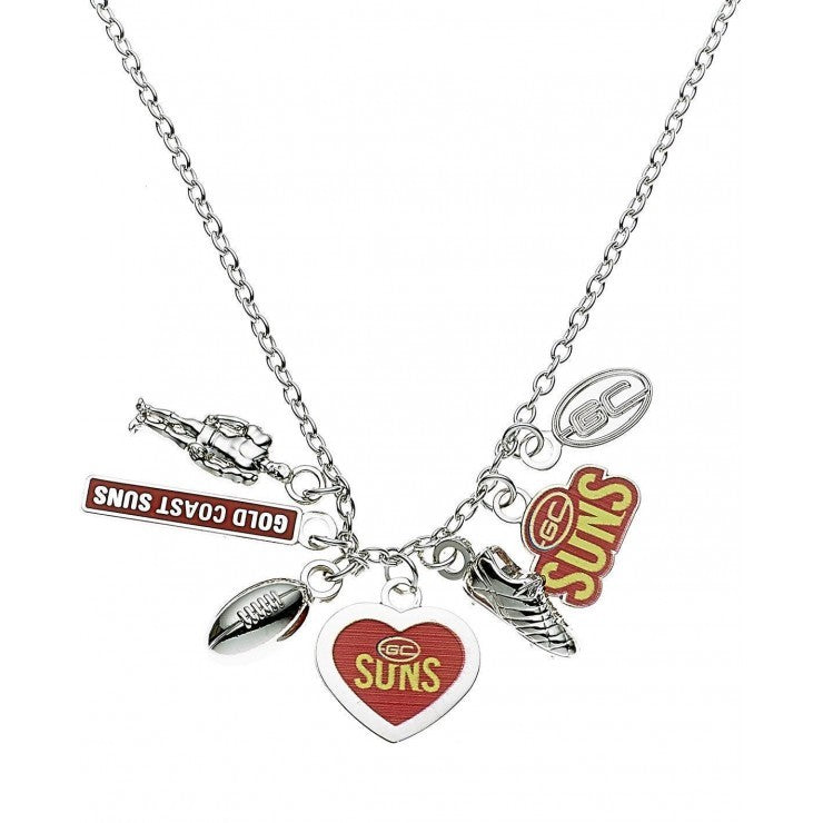 GOLD COAST SUNS CHARM NECKLACE