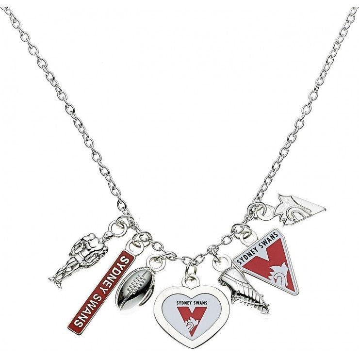 SYDNEY SWANS CHARM NECKLACE