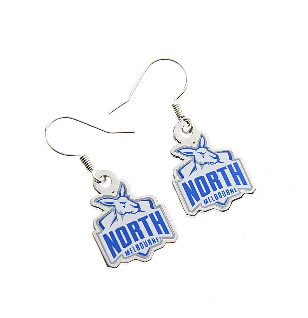 NORTH MELBOURNE LOGO EARINGS