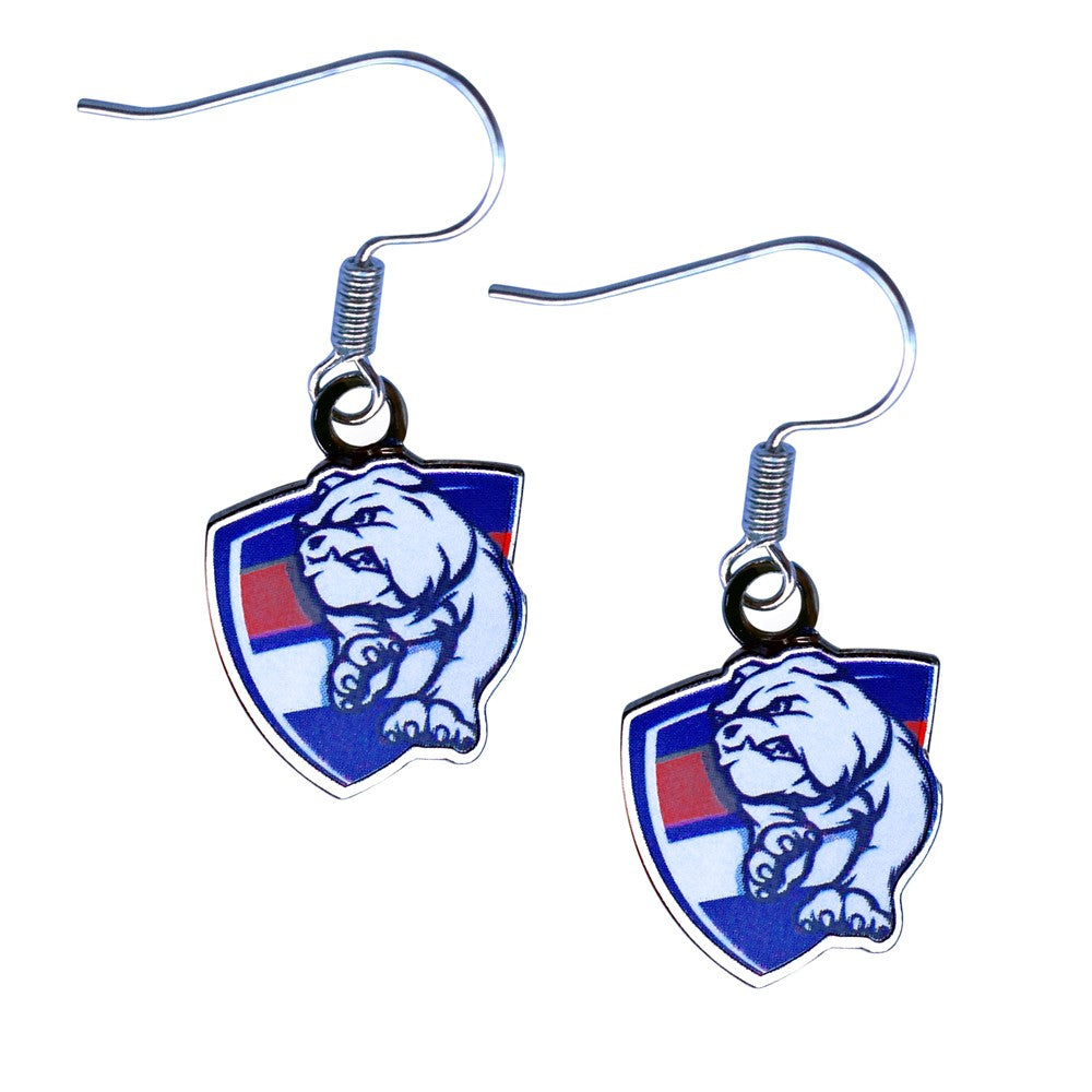 WESTERN BULLDOGS LOGO EARRINGS
