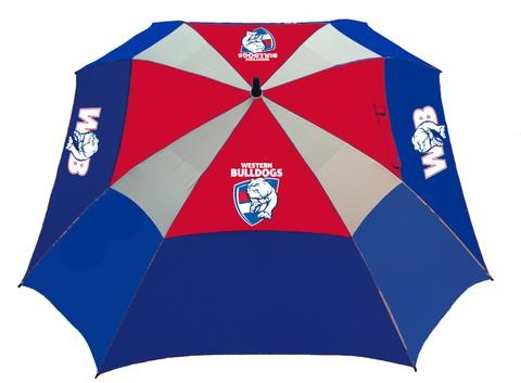 WESTERN BULLDOGS OFFICIAL AFL DELUXE GOLF UMBRELLA