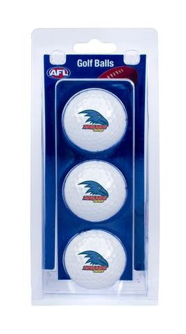 ADELAIDE CROWS OFFICIAL AFL GOLF BALLS - 3 PACK