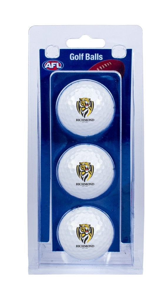 RICHMOND OFFICIAL AFL GOLF BALLS - 3 PACK