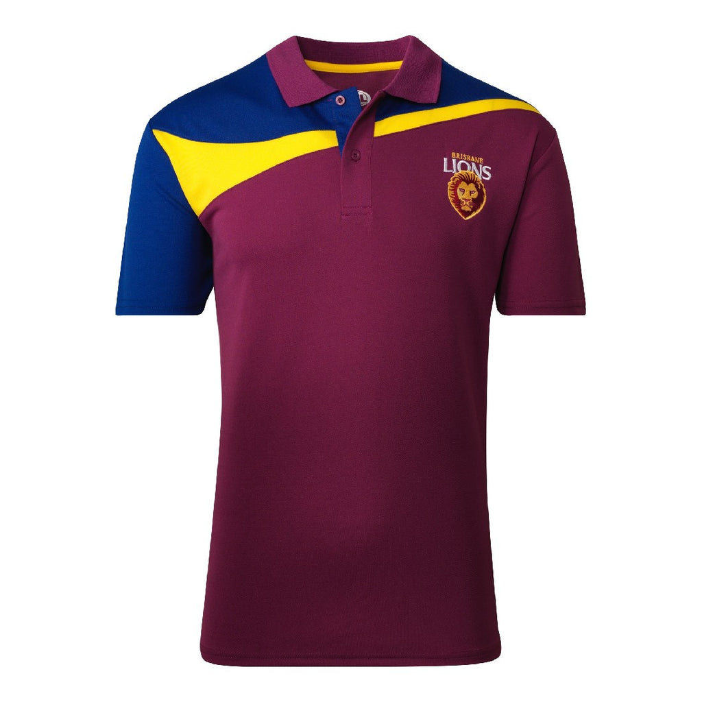 BRISBANE LIONS MENS PREMIUM POLO