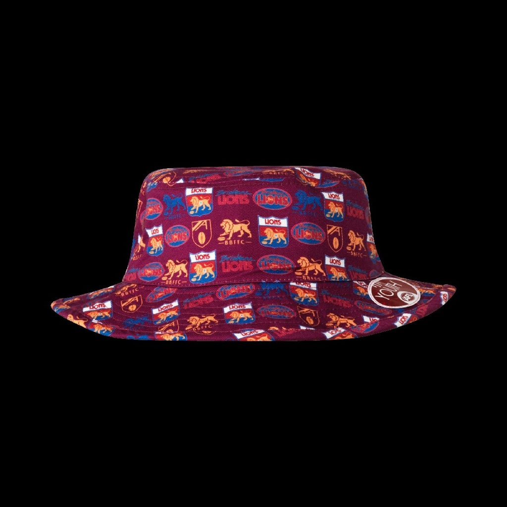 BRISBANE LIONS YOUTH BUCKET HAT
