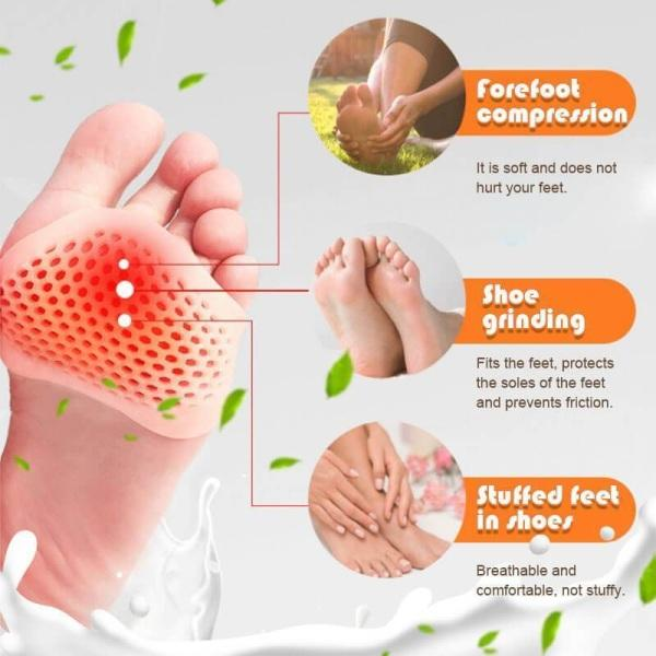 Silicone Honeycomb Forefoot Painful Foot Pad Reusable Relief Pain Q8E3