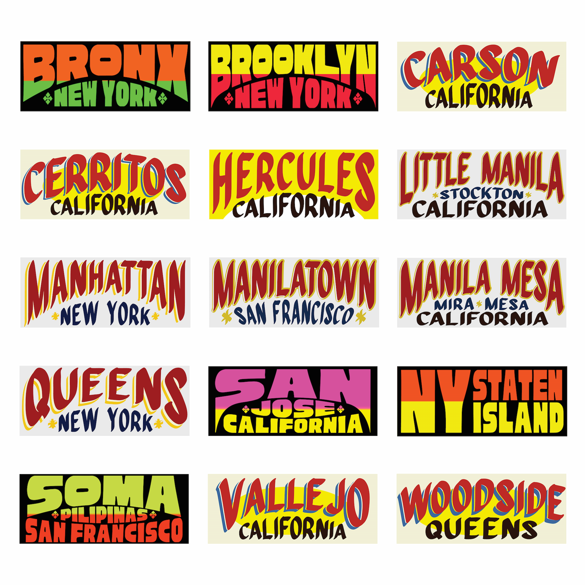 US CITIES JEEPNEY STICKERS