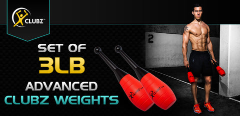 Set of 3lb ADVANCED Clubz Weights
