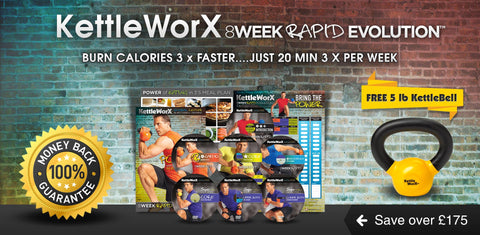 KettleWorX 8 Week Rapid Evolution + FREE KETTLEBELL