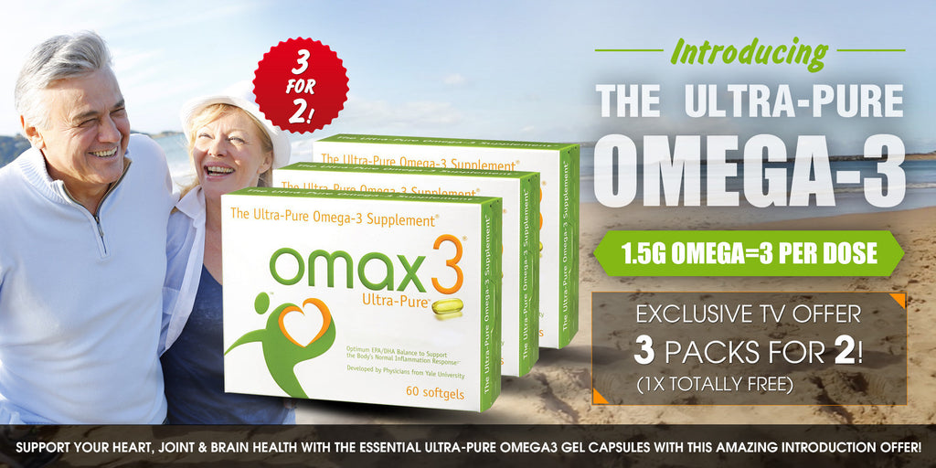 TV Exclusive Offer - Omax3 The Ultra Pure Omega-3 + FREE BOX!