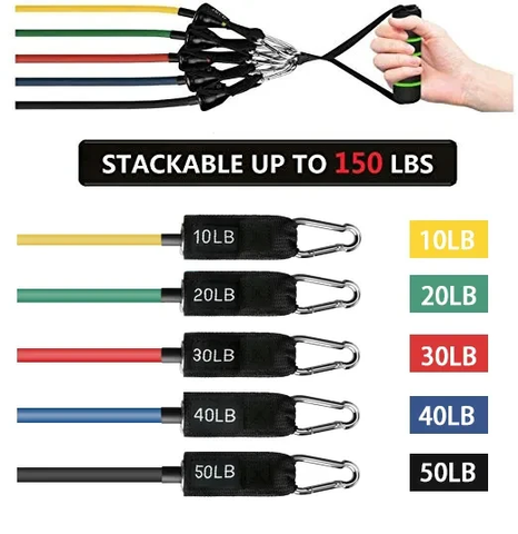 Resistance bands exercise set