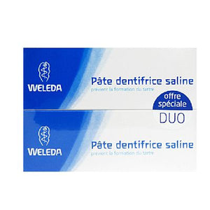Duo Dentifrice Saline 2x75ml Weleda