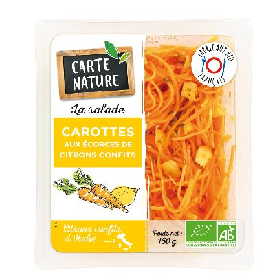 Carottes Ecorces De Citron Confit Carte Nature