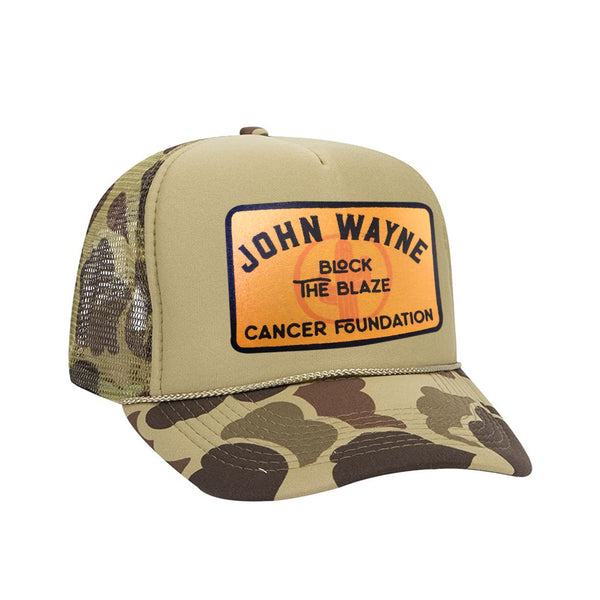 BLOCKING BLAZE CAMO TRUCKER HAT