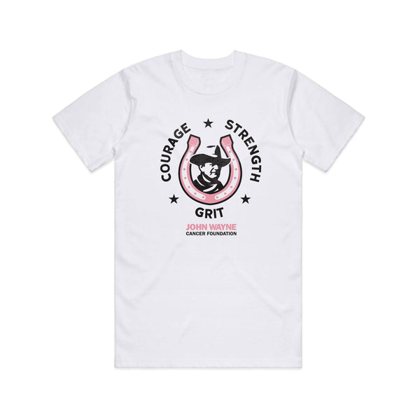 Courage + Strength + Grit Tee- White