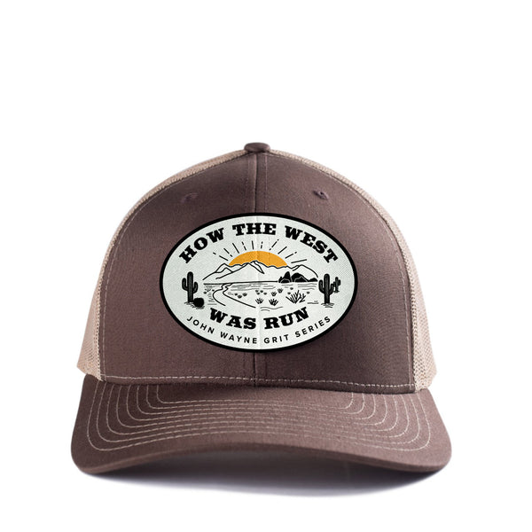 HOW THE WEST WAS RUN TRUCKER HAT