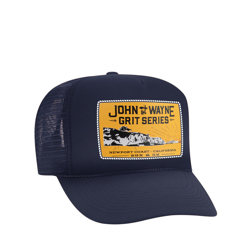 NEWPORT COAST TRUCKER HAT- BLUE
