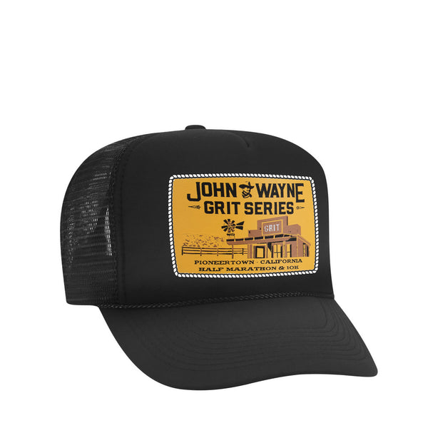 PIONEERTOWN TRUCKER HAT- BLACK