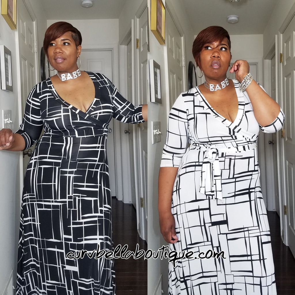 Crooked Lines Wrap Maxi
