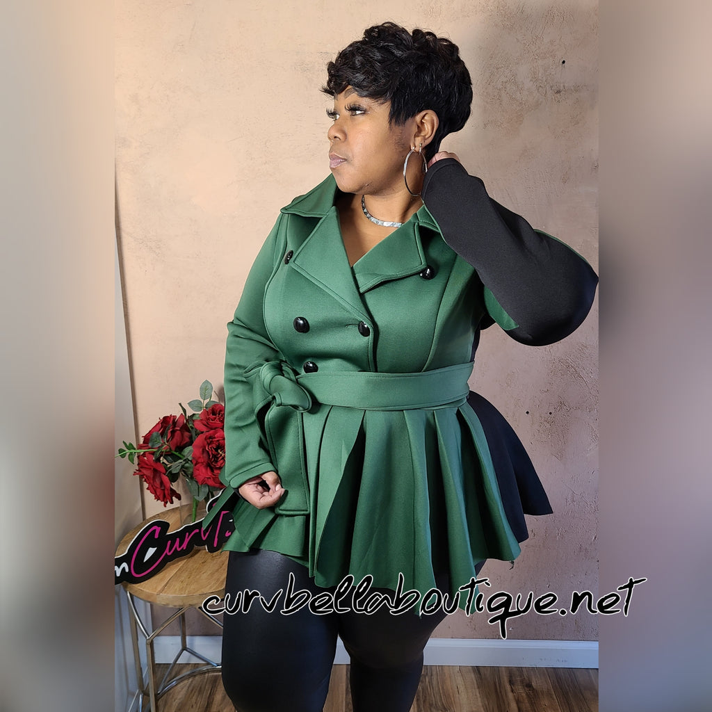 Two Tone Peplum Jacket