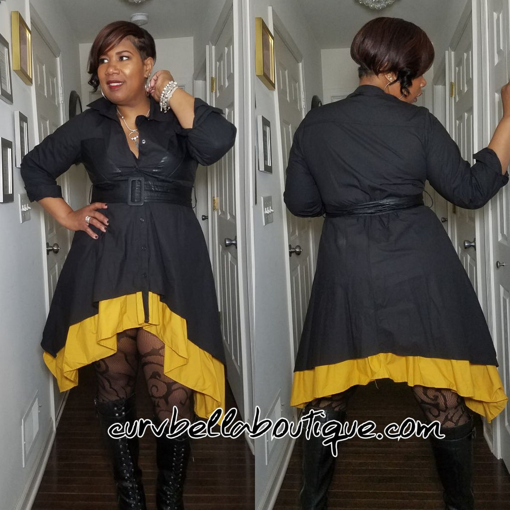Two Tone Coat Dress