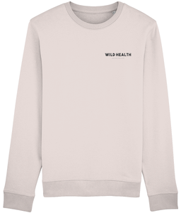 Wild Health Embroidered Rise Sweatshirt - Pink/Black