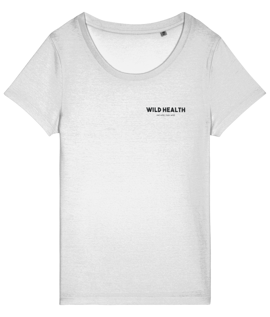 Wild Health Embroidered Stella T-Shirt - White/Black
